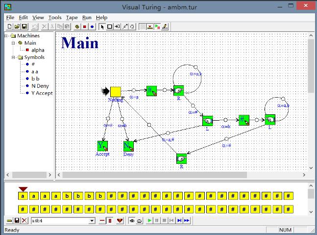 图灵机模拟软件Visual Turing IDE
